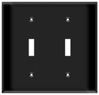 Toggle Switch Wall Plate 2-Gang Black