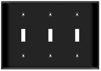 Toggle Switch Wall Plate 3-Gang Black