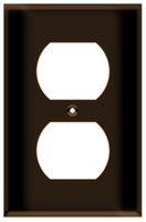 Duplex Receptacle Wall Plate 1-Gang Brown