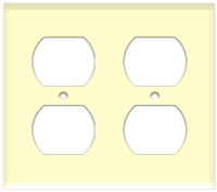 Duplex Receptacle Wall Plate 2-Gang Almond