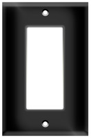 Decorative Wall Plate 1-Gang Black