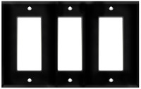 Decorative Wall Plate 3-Gang Black
