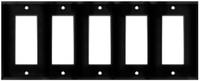 Decorative Wall Plate 5-Gang Black