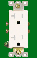 Decorative Receptacle 20Amp White Tamper Resistant