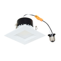 "4"" LED Recessed Retrofit Kit Square Baffled 3000K"