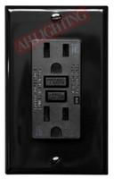 GFCI 15Amp Tamper Resistant UL2008 w/ LED Black