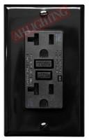 GFCI 20Amp Tamper Resistant UL2008 w/ LED Black