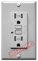 GFCI 15Amp Tamper Resistant UL2008 w/ LED Gray