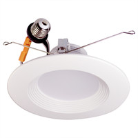 "6"" & 5""  LED Recessed Baffled Retrofit Kit Reflector 4000K  15W"