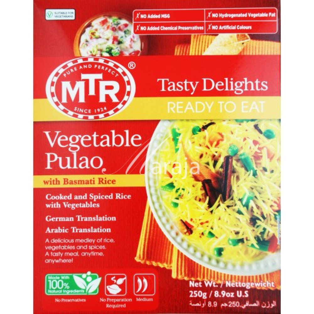 31a3815f993ac2 MTR Vegetable Pulao - Ready to Eat - Patel Brothers