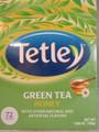 Tetley Green Tea Bags with Honey Flavor