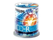Philips White Inkjet CD-R - 80 min. - 100 pack