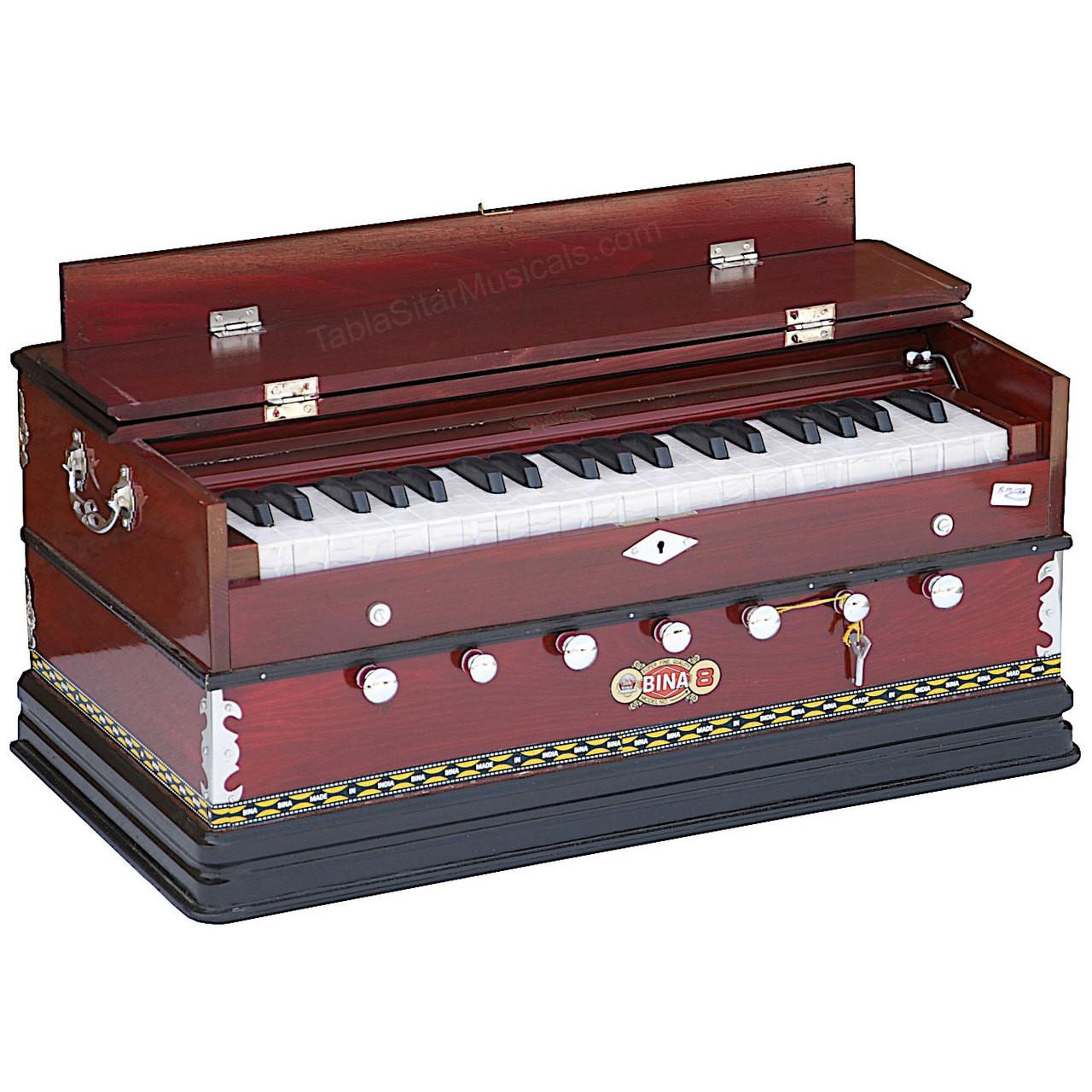 BINA no  8 Harmonium, 2 Reeds, 3 25 Octaves, 7 Stops, Coupler, 39 Keys - 174