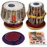 Mukta Das Tabla Set, 4 Kg Chrome Copper Bayan, Sheesham Dayan - No. 152