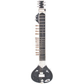 MAHARAJA MUSICALS Electric Sitar, Tun Wood, Kharaj Pancham, Black Color - No. 91