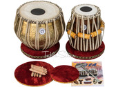 Ganesha Gulab Design Brass Tabla Drum set 3.5kg For Sale
