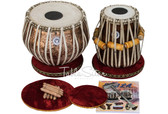 MAHARAJA MUSICALS Concert Ganesha Tabla Set, 4 Kg Copper Bayan, Finest Dayan - No. 304