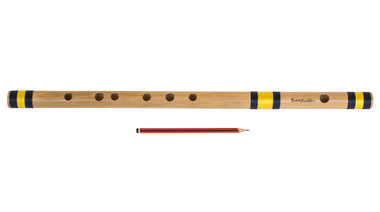 buy Sarfuddin Flutes Concert, Scale B Natural Bass 20 inches, FINEST Indian Bansuri, Bamboo Flute, Hindustani