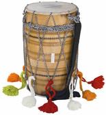 MAHARAJA MUSICALS Natural Kachha Pakka Punjabi Bhangra Shesham Dhol, Dhol No. 435