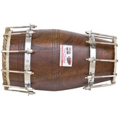VHATKAR Sheesham wood Natural Dholak/dholki, Bolt Tuned