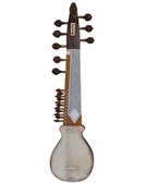 BAWABROS Designer Punjabi Rebab/Rabab, Unbreakable Tumba, Inlay Work, With Plectrum - No. 511