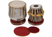 MAHARAJA MUSICALS Classic Brass Dhama Set, Brass Dhama, Sheesham Wood Dayan - Tabla No. 528