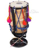 MAHARAJA MUSICALS Special Punjabi Bhangra Sheesham Dhol, Remo Head,  Dhol No. 532