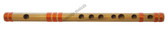 MAHARAJA Concert, Scale B Natural Medium 10 Inches, Finest Indian Bansuri, Bamboo Flute, Hindustani - No. 356