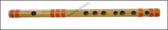 MAHARAJA Concert, Scale C Natural Small 9.5 Inches, Finest Indian Bansuri, Bamboo Flute, Hindustani - No. 359