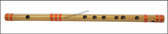 MAHARAJA Concert, Scale F Natural Medium 14 Inches, Finest Indian Bansuri, Bamboo Flute, Hindustani - No. 370