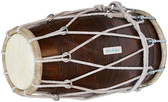 WAREHOUSE CLEARANCE SHEESHAM WOOD PROFESSIONAL DHOLAK/DHOLKI, ROPE-TUNED  - SHIPS TO UK ONLY - 60% OFF (S-8)