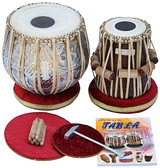 MAHARAJA MUSICALS Concert Designer Tabla Set, 4.5 Kg Copper Bayan, Finest Dayan - No.69