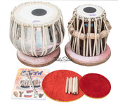 MAHARAJA MUSICALS Classic Tabla Set, 3 Kg Brass Bayan, Sheesham Dayan - Tabla No. 37