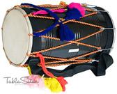 MAHARAJA MUSICALS Black Punjabi Bhangra Mango Wood Dhol - Dhol No. 35