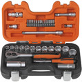 "Bahco - 34 Piece 1/4"" & 3/8"" Socket Set DS14 S330"