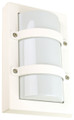 Oriel Trio Mini White Outdoor Wall Light IP65 E27 Premium Powdercoated SG70522WH