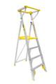 Bailey Platform Ladder Aluminium 170kg Platform Height 1.2m Professional With Gate FS13452