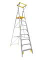 Bailey Platform Ladder Aluminium 170kg Platform Height 2.4m Professional With Gate FS13456