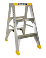 Bailey Step Ladder Double Sided Aluminium 150kg 0.9m Big Top Yellow FS13573