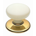 Gains Door Knob Classic Metal Gb Lrg Warm Wht Gld 1305WAWBG