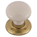 Door Knob Classic Metal Gb Sml Warm Wht Gld 1366WAWBG