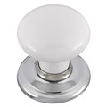 Door Knob Classic Metal Gb Sml White Bc Rose 1366WHIBC