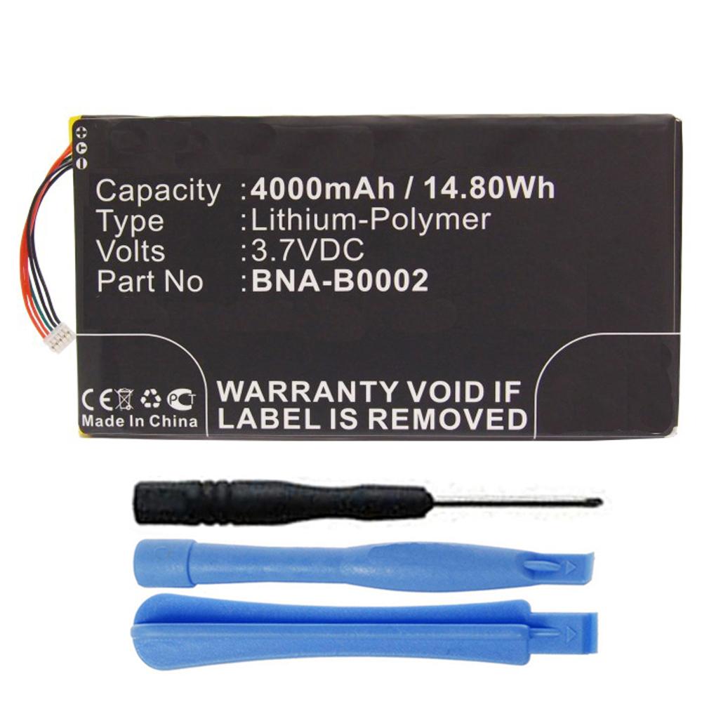 NA-B0002 Battery for Barnes & Noble NOOK HD 7 BNRV400 BNTV400 Tablet