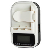 Universal Li-ion Lithium-ion Battery Wall Travel Charger w/ LCD USB