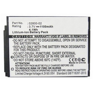 1100mAh 02800-02 Battery for Summer Baby Touch 02000 02004 Monitor