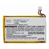533-000070 Battery for Logitech Ultrathin Keyboard Cover Y-R0032 iPad