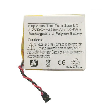 280mAh PP332727 Battery Replacement for TomTom Spark 3 Fitness Watch
