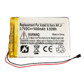 1600mAh Battery Replacement for Astell & Kern AK Jr Portable Audio Player PPE11
