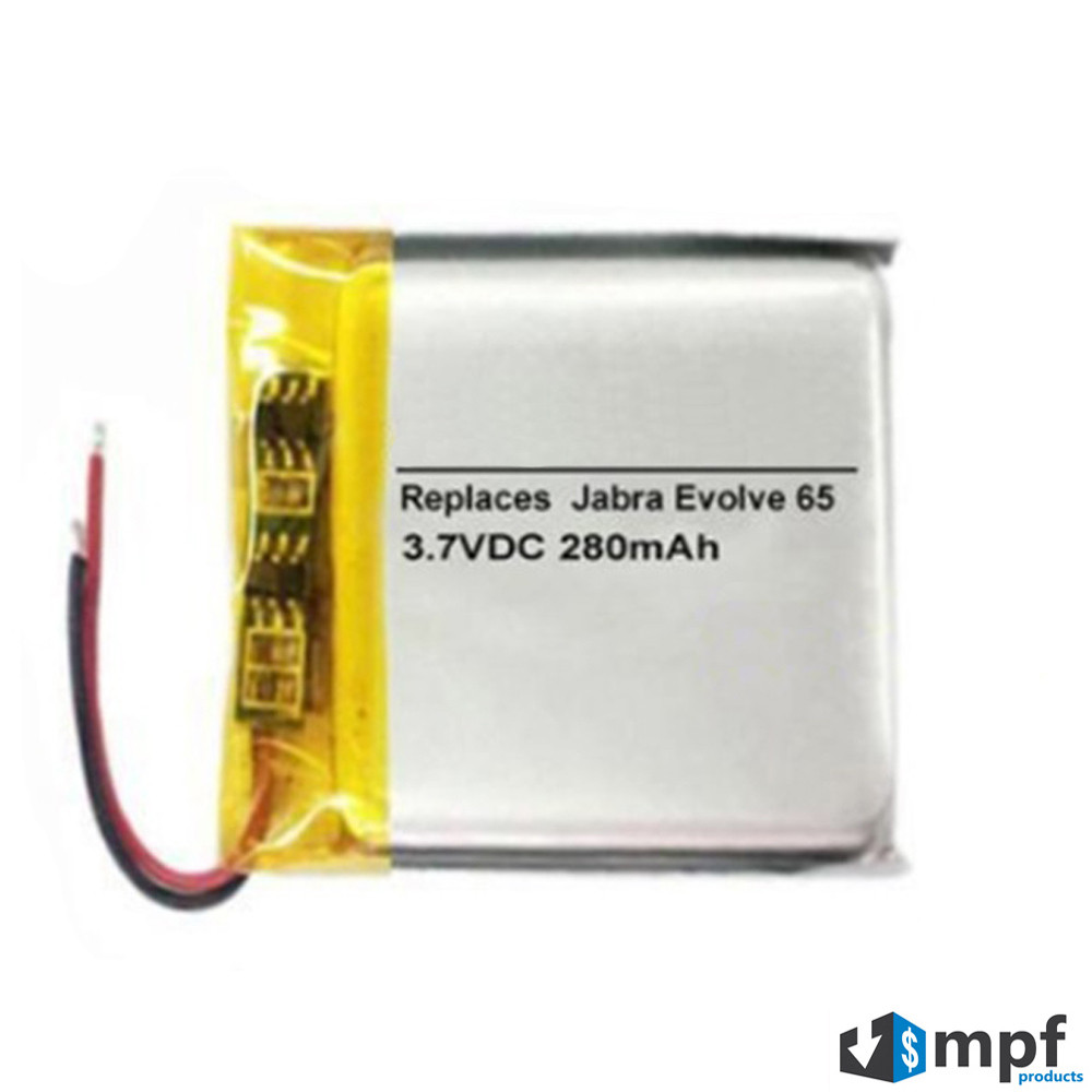 aa07df1bd80 280mAh AHB472625PLT Battery Replacement for Jabra Evolve 65 ...
