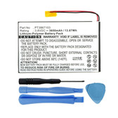PT3867103 Battery Replacement for RCA 7-inch RCT6272W23 Tablet 3650mAh
